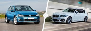 bmw volkswagen bug vw golf vs bmw 1 series premium hatch battle carwow
