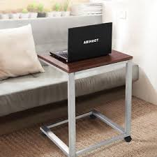 Rolling Ottoman Coffee Tray Sofa Side End Table Stand Tv Snack Ottoman