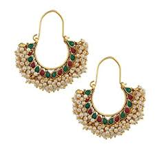 hoops earrings india buy adiva indian ethnic collection golden hoop earring