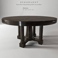 bernhardt sutton house round dining table top and bas 3d model max