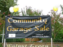 Organizing A Garage Sale - organizing and sponsoring a community garage sale