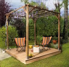 tonnelle de jardin en bois décoration jardin pergola