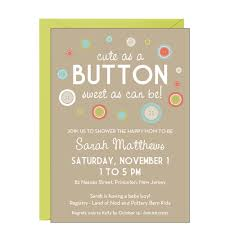 cute as a button baby shower invitations marialonghi com