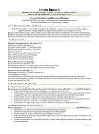 Research Resume Samples by Science And Research Resume Examples