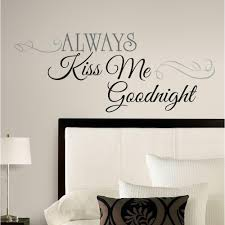articles with removable wall art decals quotes tag removable wall gorgeous wall decals room ideas always kiss me goodnight wall decor decals full size