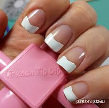 plump and polished shoplately french tip dip nail art