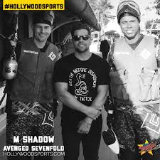Avenged Sevenfold Flag Avenged Sevenfold M Shadows Plays Paintball At Hollywood Sports