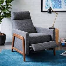 West Elm Lounge Chair Rhys Recliner Heather Tweed Fabric In Marine West Elm Blogs
