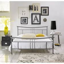 premier annika metal platform bed frame queen with bonus base