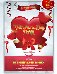 valentines day party club and party free flyer psd template