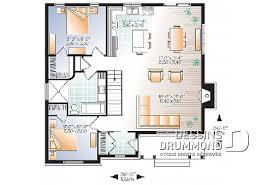 plan maison 2 chambres plain pied plan et modèle de maison moderne plans dessins drummond