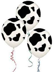 cow print balloons these cowhide balloons feature a all cow print design each