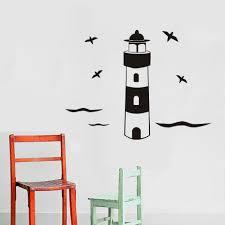 popular lighthouse wall stickers buy cheap lighthouse wall dctop birds and lighthouse wall stickers home decor diy vinyl high quality muursticker removable art wall