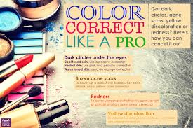 got dark circles or redness here u0027s how to color correct like a