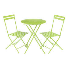 Lime Green Bistro Table And Chairs Parisian Lime Green Metal Bistro Set63219 Outdoor Furniture