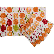 towel sets walmart towel mainstays fruit kitchen towel set of 6 walmart com