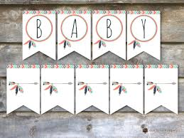 tribal baby shower decorations tribal baby shower flags