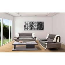 canapé design microfibre canapé design 3 2 bregga microfibre gris blanc achat vente