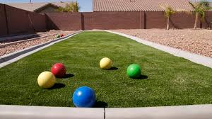 patio u0026 outdoor bocce ball court with synthetic grass and grapel