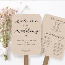 Rustic Wedding Program Fans 100 Wedding Program Kits Amazon Com Wilton Happy Day