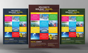 holiday travel flyer template flyer templates creative market