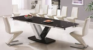 Seat Dining Table - Black dining table seats 10