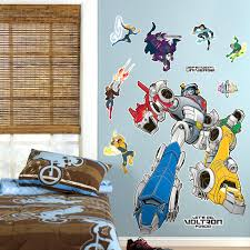 Mario Bros Wall Stickers Voltron Force Giant Wall Decals 85529 For His Bedroom Voltron