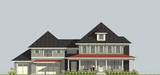 four square house plans with garage house plan