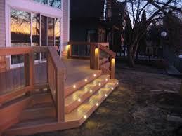 image of stair lighting deck