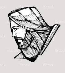 jesus christ face side stock vector art 476942190 istock