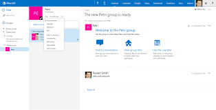 create an office 365 in outlook