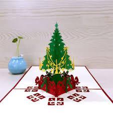 gift card tree merry christmas 3d tree greeting card postcard birthday gift card