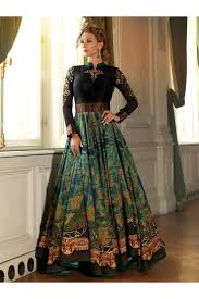 party wear dress digital print bhagalpuri silk party wear black gown 24ca84 1005