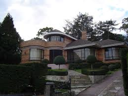 architecture front curved art deco homes combined with large