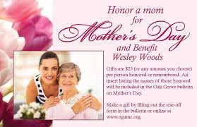 Wedding Gift Amount Per Person Oak Grove United Methodist Church Mother U0027s Day Gifts For Wesley