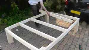 How To Make A Queen Size Platform Bed With Drawers by Heavy Duty Diy Bed Youtube