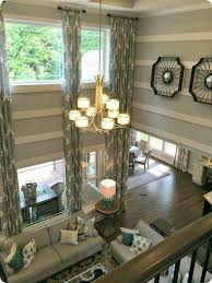 Curtains High Ceiling Decorating Use Pieces Of Wood To Create The Stripes Entry Pinterest