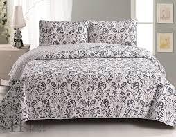 amazon com martinique collection 3 piece luxury quilt set with