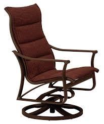 sling rocking chair padded sling swivel action lounge rocking