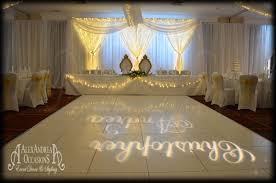 wedding backdrop hire london gobo initial image projection hire london essex hertfordshire