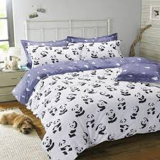 black and white bedding set panda 100 cotton bed sheet bedspread