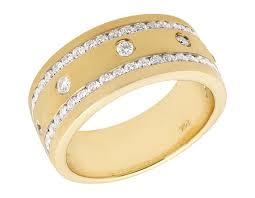 comfort fit wedding bands 10k yellow gold mens matte finish comfort fit real diamond wedding
