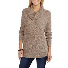 sweater walmart s boucle cowl neck sweater walmart com