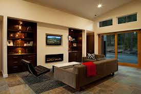 fireplace wall mount fireplace and barcelona chair in
