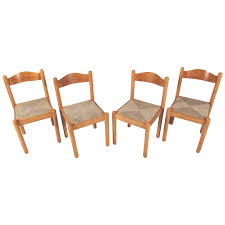 French Dining Chairs Set Of 45 French Grange Rush Seat Dining Chairs At 1stdibs