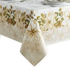 white poinsettia tablecloth bed bath beyond