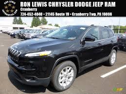 jeep cherokee black 2016 2016 brilliant black crystal pearl jeep cherokee latitude 4x4
