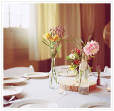 Simple Vase Centerpieces Modern Seattle Wedding Andrea Tyson Real Weddings 100 Layer