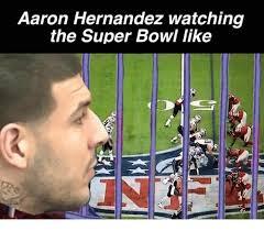 Hernandez Meme - aaron hernandez watching the super bowl like aaron hernandez