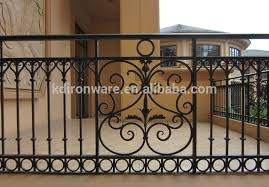factory price ornamental balcony wrought iron railings modern